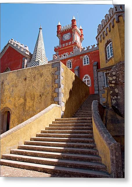 Palacio Nacional Da Pena, Sintra Greeting Card by Susan Degginger