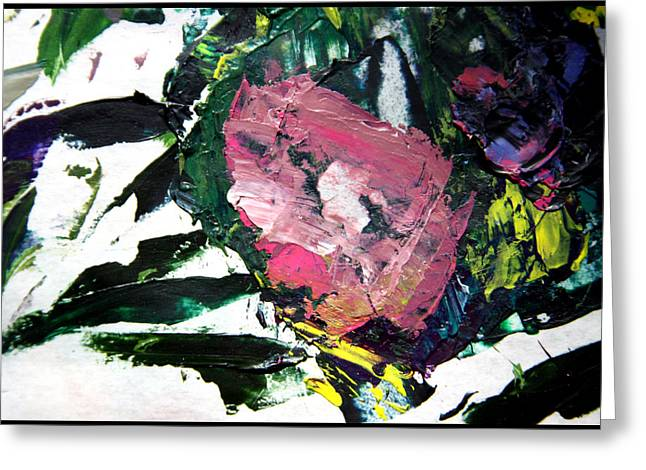 Abstraction Paintings Greeting Cards - Palette Abstraction #11 Greeting Card by John Lautermilch