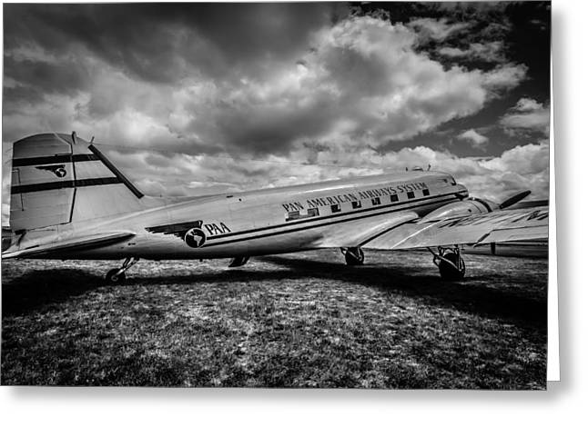 Dc3 Greeting Cards - Pan American Airways DC3 Greeting Card by Puget  Exposure