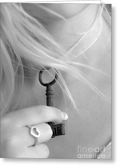 Pandora Key Greeting Card by Svetlana Sewell