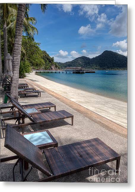 Asia Digital Greeting Cards - Pangkor Laut Greeting Card by Adrian Evans