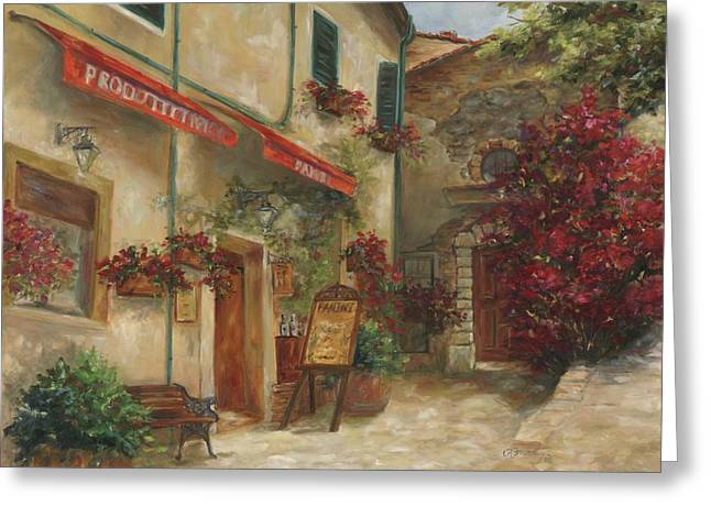Italian Tuscan Greeting Cards - Panini Cafe Greeting Card by Chris Brandley