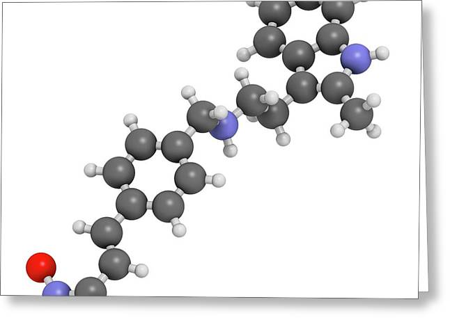 Panobinostat Cancer Drug Molecule Greeting Card by Molekuul