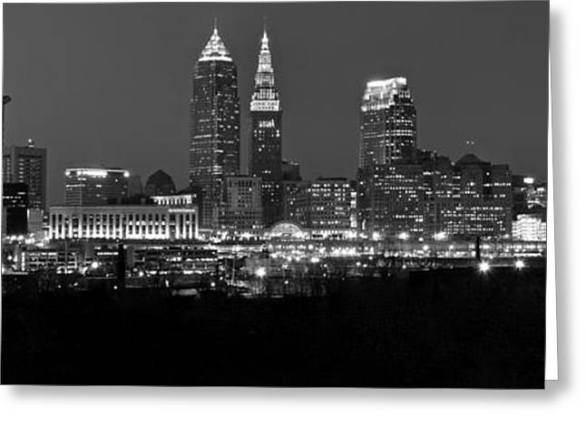 Theater Greeting Cards - Panoramic Cleveland Greeting Card by Frozen in Time Fine Art Photography