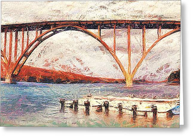 Roadway Greeting Cards - Panoramic view of bridge in Cuba Greeting Card by Odon Czintos