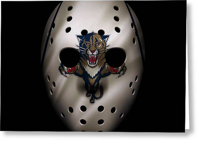 Panthers Jersey Mask Greeting Card by Joe Hamilton
