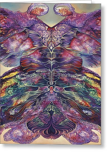 Butterflies Paintings Greeting Cards - Papalotl Series III  Greeting Card by Ricardo Chavez-Mendez