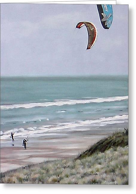 Papamoa Greeting Cards - Papamoa Beach 090208 Greeting Card by Sylvia Kula