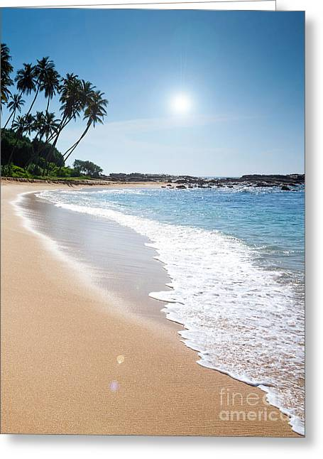 Southern Province Greeting Cards - Paradise beach  Greeting Card by Christina Rahm