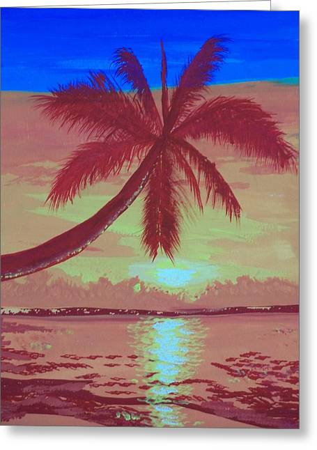 Paradise Road Greeting Cards - Paraiso Greeting Card by Jose Lopez