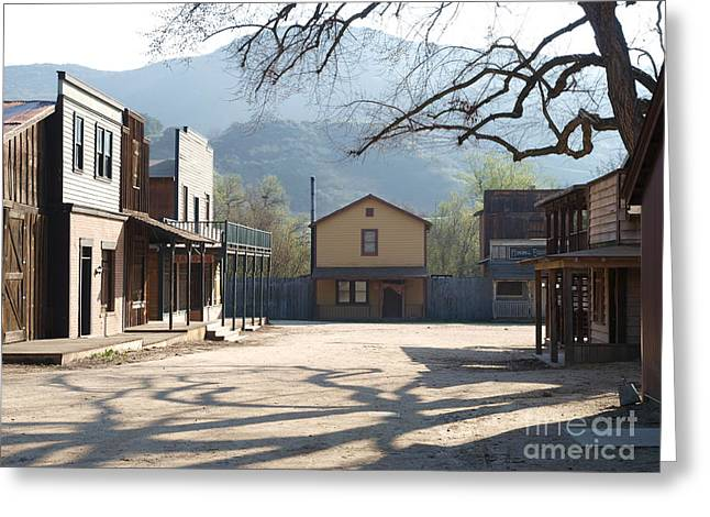 Historic Architecture Greeting Cards - Paramount Ranch Greeting Card by Trekkerimages Photography