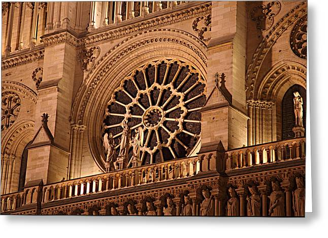 Paris France - Notre Dame De Paris - 01134 Greeting Card by DC Photographer
