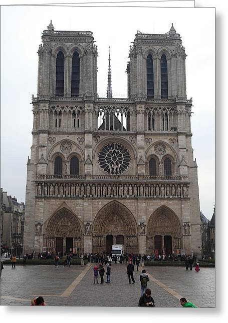 Shadows Greeting Cards - Paris France - Notre Dame de Paris - 01135 Greeting Card by DC Photographer