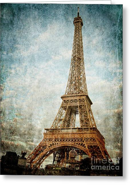 French Age Pyrography Greeting Cards - Paris Greeting Card by Jelena Jovanovic