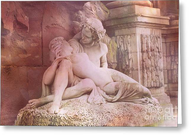 Fountain Photograph Greeting Cards - Paris - Luxembourg Gardens - Medici Fountain  Greeting Card by Kathy Fornal