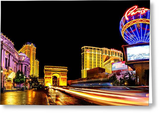 Music Time Photographs Greeting Cards - Paris On The Strip Greeting Card by Az Jackson