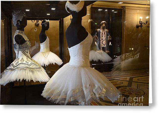 Ballet Art Greeting Cards - Paris Opera House Ballerina Costumes - Paris Opera Garnier Ballet Art - Ballerina Fashion Tutu Art Greeting Card by Kathy Fornal