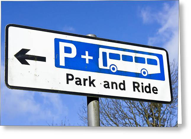 Congestion Greeting Cards - Park and ride Greeting Card by Tom Gowanlock