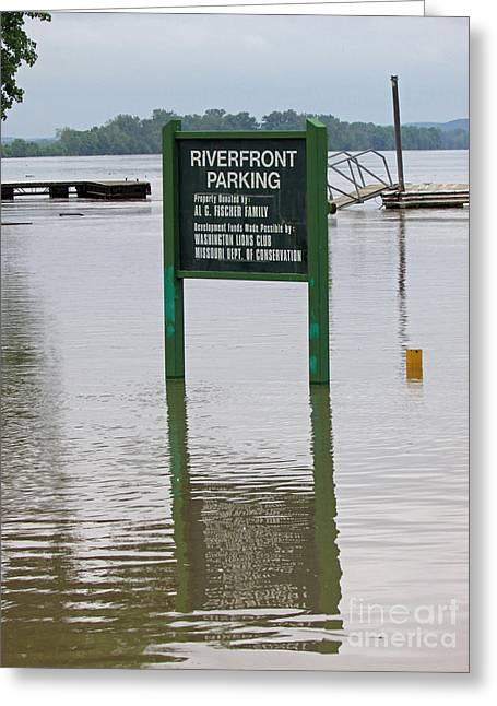 River Flooding Greeting Cards - Park Where Greeting Card by Jamie  Smith