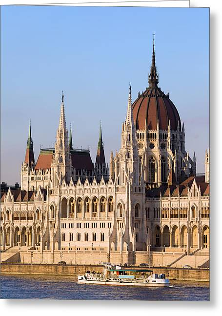 Neogothic Greeting Cards - Parliament Building in Budapest Greeting Card by Artur Bogacki