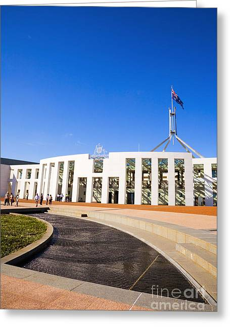 Federal Government Greeting Cards - Parliament House Canberra Australia Greeting Card by Colin and Linda McKie