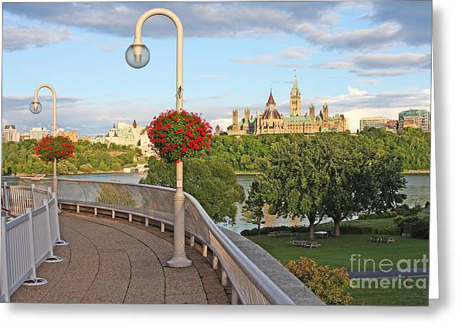 Ottawa Skyline Greeting Cards - Parliament of Canada  Greeting Card by Denis Tangney Jr