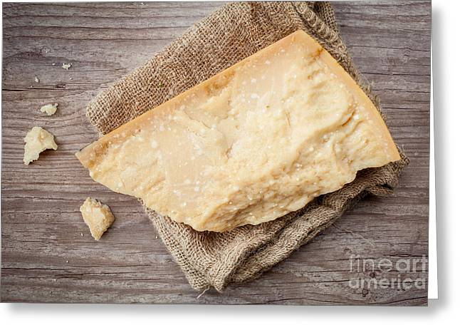 Italian Meal Greeting Cards - Parmesan cheese Greeting Card by Sabino Parente
