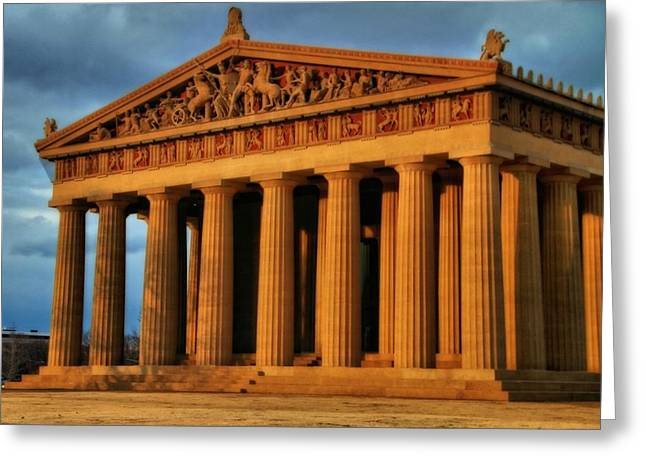 Tennessee Landmark Greeting Cards - Parthenon Greeting Card by Dan Sproul