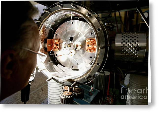 European Particle Physics Lab Greeting Cards - Particle Physics Experiment Greeting Card by RIA Novosti