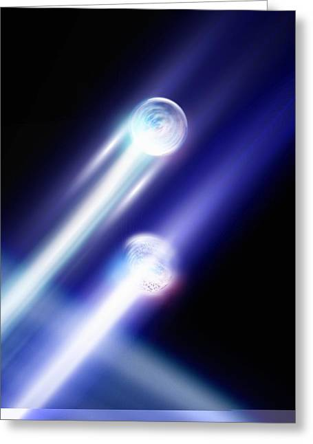 Neutron Greeting Cards - Particles, conceptual artwork Greeting Card by Science Photo Library
