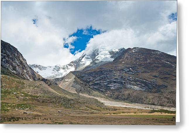 Andean Greeting Cards - Paso Punta Union  Greeting Card by Ulrich Schade