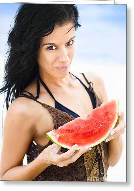 Watermelon Greeting Cards - Passion For Fruit Greeting Card by Ryan Jorgensen