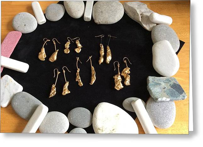 Rock Jewelry Greeting Cards - Past to Present Jewelry Greeting Card by Alexander Almark