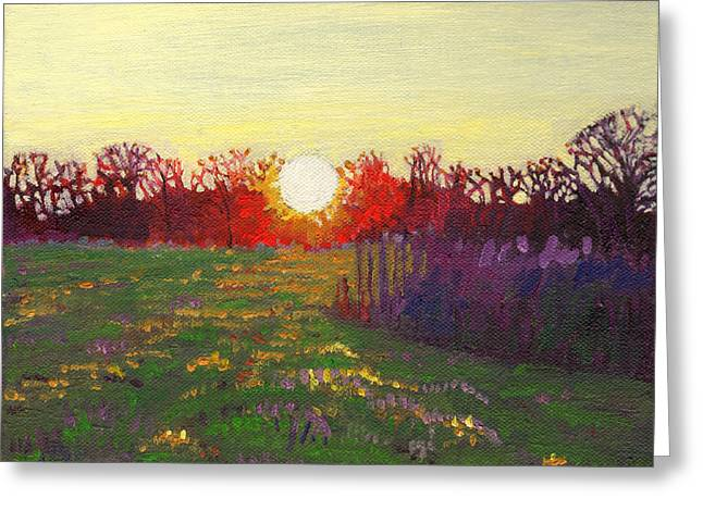 Spheres Paintings Greeting Cards - Path of light Greeting Card by Helen White