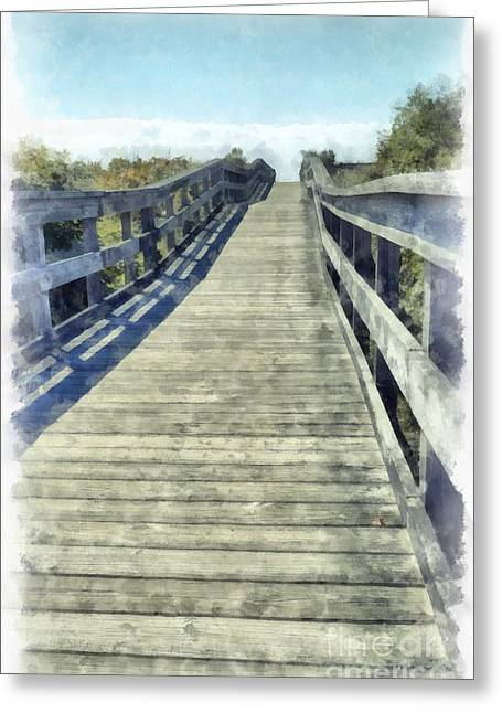 Boardwalk Greeting Cards - Path to the Beach Greeting Card by Edward Fielding
