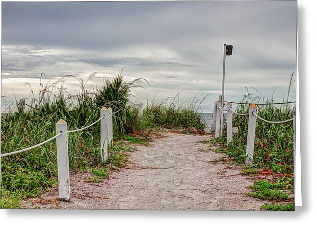 Jogging Greeting Cards - Pathway to the Beach Greeting Card by Robert Bellomy