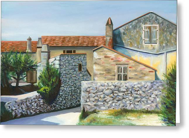 Stone House Paintings Greeting Cards - Pattis house Greeting Card by Joe Maracic