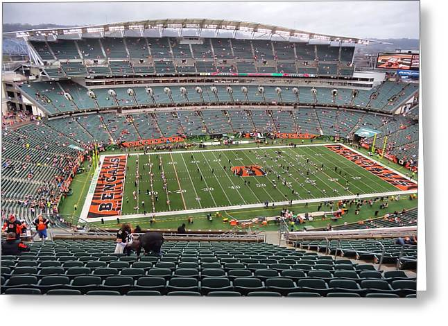 Paul Brown Stadium Greeting Card by Dan Sproul