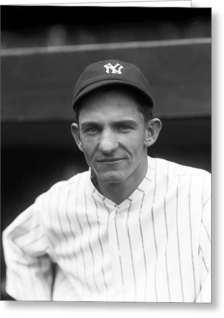 Yankees Shortstop Greeting Cards - Paul L. Pee Wee Wanninger Greeting Card by Retro Images Archive
