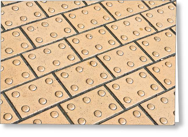 Blind Greeting Cards - Paving slabs Greeting Card by Tom Gowanlock