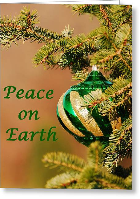 Peace On Earth 2 Greeting Card by Francie Davis
