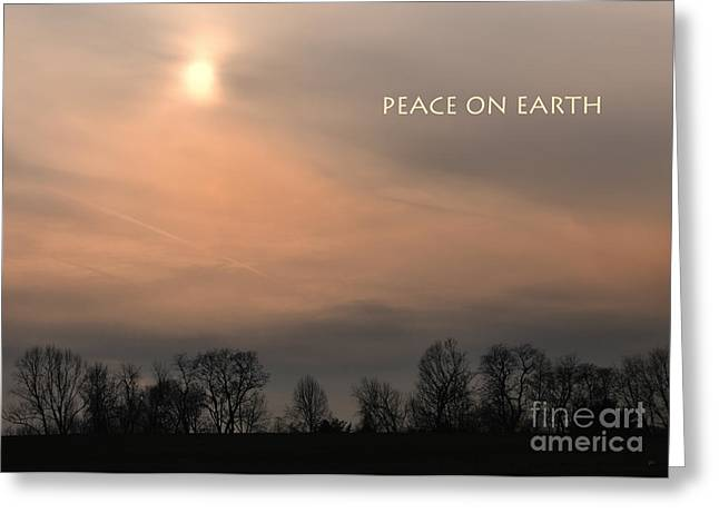 Rural Landscapes Mixed Media Greeting Cards - Peace On Earth Greeting Card by Gerlinde Keating - Keating Associates Inc