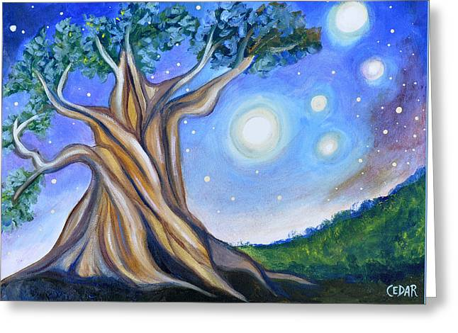 Life-cosmic Dance Greeting Cards - Peaceful Evening Greeting Card by Cedar Lee