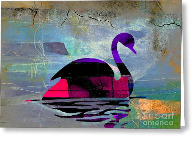 Swan Goddess Print Greeting Cards - Peaceful Swan Greeting Card by Marvin Blaine