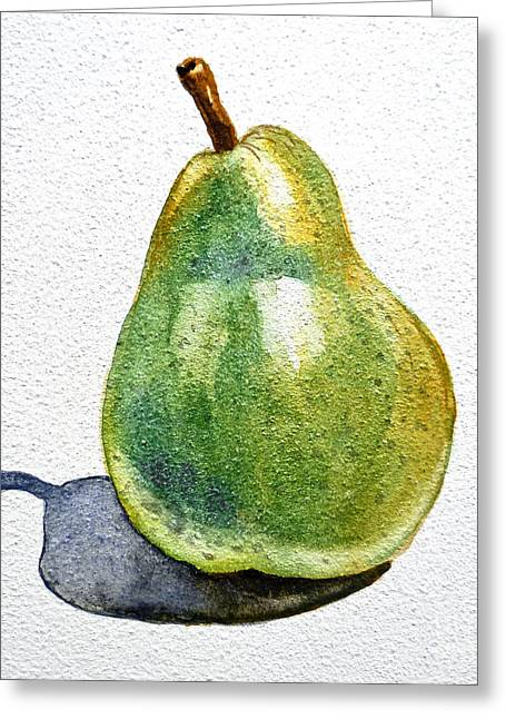 Pears Greeting Cards - Pear Greeting Card by Irina Sztukowski