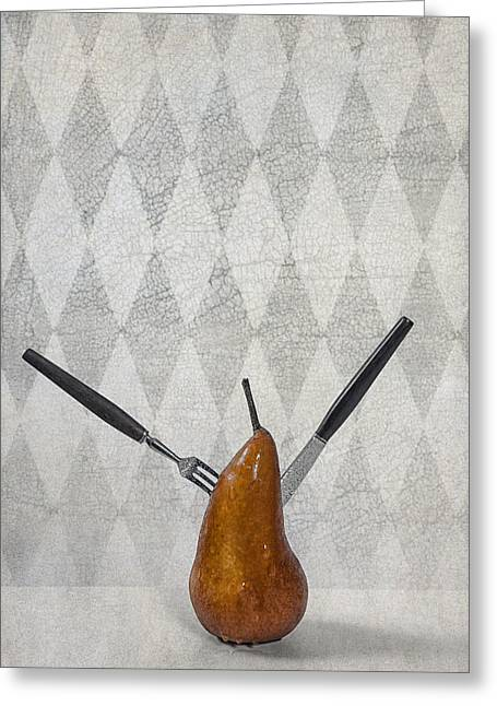 Pears Photographs Greeting Cards - Pear Greeting Card by Joana Kruse