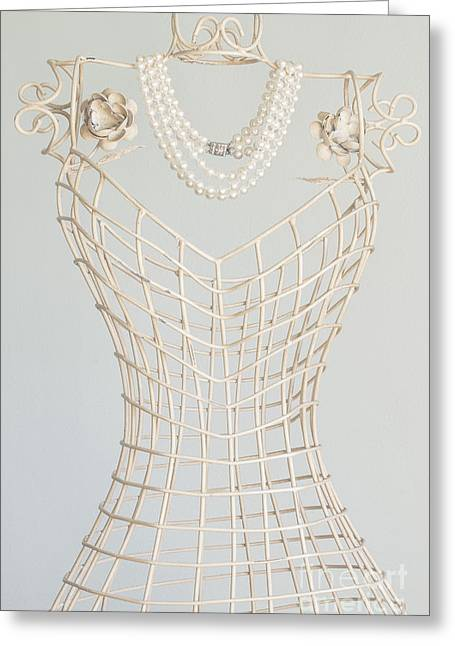 Pearls Greeting Card by Margie Hurwich