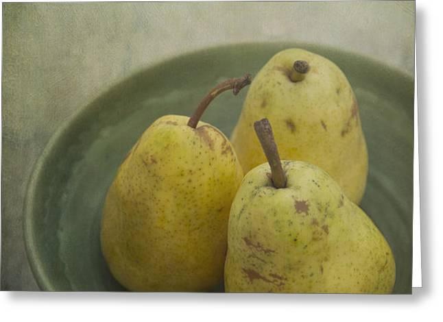 pears Greeting Card by Priska Wettstein