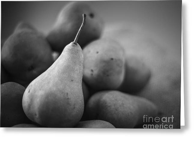 Bosc Greeting Cards - Pears still life Greeting Card by Vishwanath Bhat
