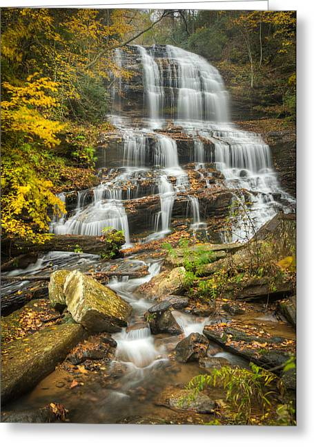 Fall Trees With Stream. Greeting Cards - Pearsons Falls Greeting Card by Joye Ardyn Durham